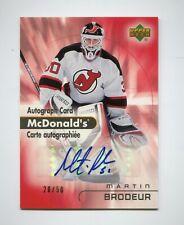 2005-06 McDonald's Upper Deck Autographs #MA6  Martin Brodeur  20/50  RARE
