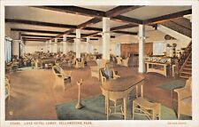 YELLOWSTONE PARK WYOMING~LAKE HOTEL LOBBY-HAYNES POSTCARD