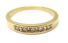 14K YELLOW GOLD ROUND DIAMOND BAND RETAIL $349