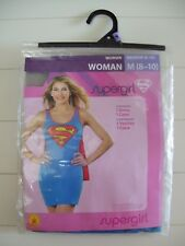Women's Rubie's Adult Supergirl Role Play Halloween Costume M 8-10