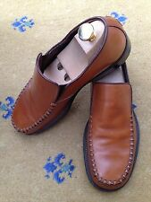Oliver Sweeney Mens Shoes Tan Brown Loafers UK 7 US 8 41 Snakeskin effect insole