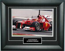 Jules Bianchi Signed 8X12 inches 2012 Ferrari F1 Photo Frame