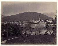 Pallanza Lago Maggiore Italia Vintage Albumina Ca 1875