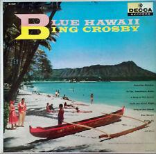 BING CROSBY - BLUE HAWAII - DECCA LABEL - MONO LP - BLACK AND SILVER LABEL