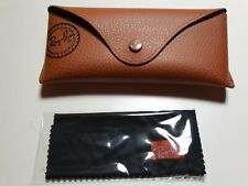 Rayban Sunglasses Brown Case + Micro cloth