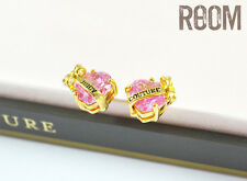 Juicy Couture 'Wishes' Banner Heart Stud Earrings Pink