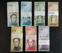 Venezuela 500 - 100000 Bolivares (7 Pcs Set) x 100 Pcs Bundle, 2016-2017 Unc