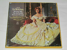 VERDI La Traviata 3-LP BOX SET Angel Beverly Sills Gedda Panerai ALDO CECCATO