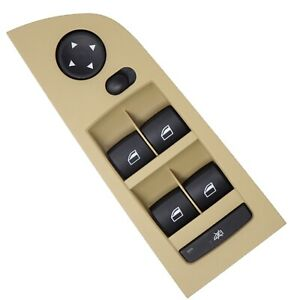 Pulsantiera interruttori console alzacristalli BEIGE per BMW 3 E90 E91