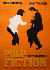 Framed PULP FICTION  FUNKY DANCE art film canvas print movie painting Australia