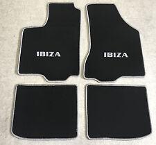 Autoteppich Fußmatten für Seat Ibiza 6K 1993-2002 schwarz silber 4teilig Neuware