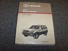 2001 Lexus LX470 SUV Workshop Shop Service Repair Manual Book Vol1 4.7L V8