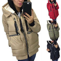 Women Winter Warm Fashion Casual Fleece Thick Jackets Coats Loose Zipper Outwear