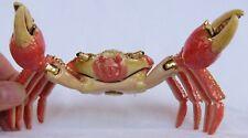 QIFU Rare Crab Swarovski Collectable Decorative Pill/Trinket Box NIB