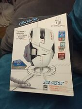 Cyborg R.A.T. 7 Laser Mouse PC/Mac Albino White + Free GLIDE  Gaming Surface