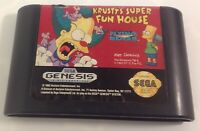Krusty's Super Fun House (Sega Genesis, 1994) Cleaned Cartridge Tested & Working