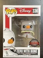 Funko POP Disney Nightmare Before Christmas Zero With Bone Exclusive #336