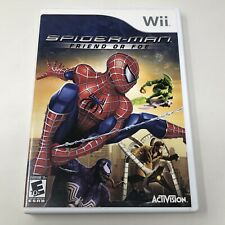 Spider-Man Friend or Foe Nintendo Wii Video Game Complete Tested CIB