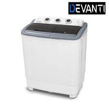 5kg Mini Portable Washing Machine Top Load Twin Spin Dry Camping Caravan  Home