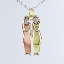 Two Sisters Two Friends Necklace Best Friends Pendant Sisters BFF Twins 2 Girls