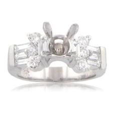 1.50 ct Ladies Round Cut Diamond Semi Mounting Ring any Head Size Abailable