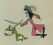 Peter Pan and Captain Hook Disney art corner animation Cel 1950's