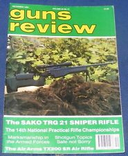 GUNS REVIEW MAGAZINE DECEMBER 1993 - THE SAKO TRG21 SNIPER RIFLE