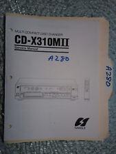Sansui cd-x310m II service manual original repair book stereo cd player changer