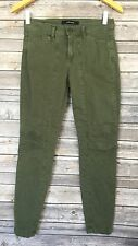 J Brand Pants 7A012 Womens 25 Mid-rise Utility Jungle Green Ginger Crop