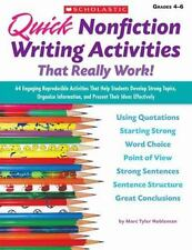 Quick Nonfiction Writing Activities That Really Work!: 64 Engaging Rep-ExLibrary