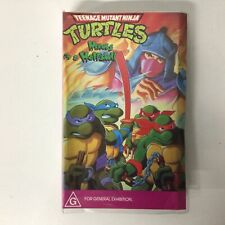 Retro Teenage Mutant Ninja Turtles Heroes In A  Halfshell 5766 VHS Tape #924