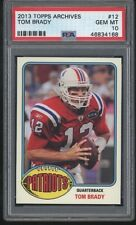 2013 Topps Archives TOM BRADY Card #12 Low Pop Patriots Psa 10