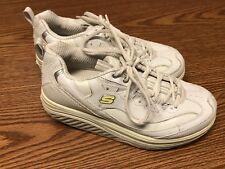 Skechers 11800 White Yellow Shape Ups Metabolize Women's Walking Shoes Size 6