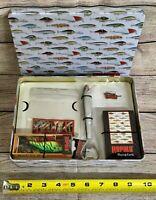 Vintage Rapala fishing set NEW fisherman gift tin sport fish lure crankbait RFR7