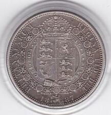 1887  Jubilee  Head  Half  Crown  (2/6d) -  Sterling  Silver  Coin