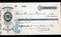 """MONTLUCON (03) COMPTOIR D'ESCOMPTE / BANQUIER """"R. HOURS & DEQUERRE"""" en 1910"""