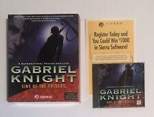 Gabriel Knight: Sins of the Fathers (PC, 1993) Big Box CD-ROM COMPLETE CIB