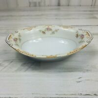 Vintage JYOTO China Oval Vegetable Serving Bowl Floral Scroll Pattern