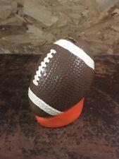 "vintage FAB starpount ceramic football coin bank 7"" tall"