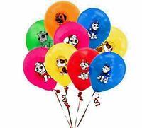 "15 x PAW PATROL Printed Latex Balloons 12"" Birthday Party Decoration uk seller"