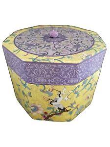 "Tina Higgins Tri-Coastal Design Hexagon (8 Sided)Trinket Box 2002 6"" X 4.5"""