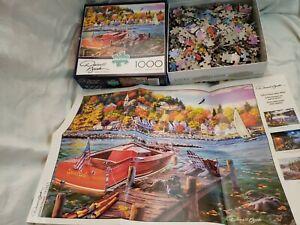 Darrell Bush Puzzles Season Finale Fall Autumn Lake 1000 Pieces Buffalo USA Made