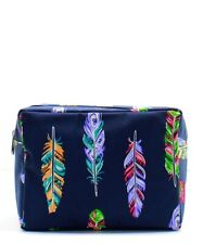 Feathers NGIL® Large Cosmetic Make Up Travel Purse Pouch NWT Free Ship FEA613_NY