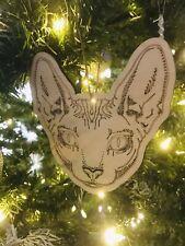 Sphynx Cat Hairless Cat Christmas Ornament