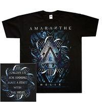 Amaranthe Nexus Blue Shirt S-XXL Official Metalcore Heavy Metal Band Merch New