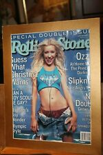 Christina Aguilera Rolling Stone Cover July 2000 Matted to 11x14