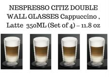 BRAND NEW NESPRESSO CITIZ DOUBLE WALL LATTE GLASSES  350ML (Set of 4) – 11.8oz