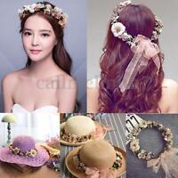 Bridal Boho Flower Headband Wedding Party Floral Festival Crown Hair Garland UK