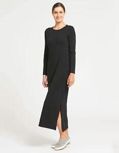 Solbari UV Sun Protection Women's Long Sleeve Maxi Dress UPF 50+ Cotton Bamboo