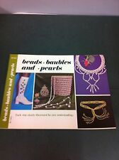 70's Vintage Beads Baubles & Pearls Instruction Pattern Craft Book